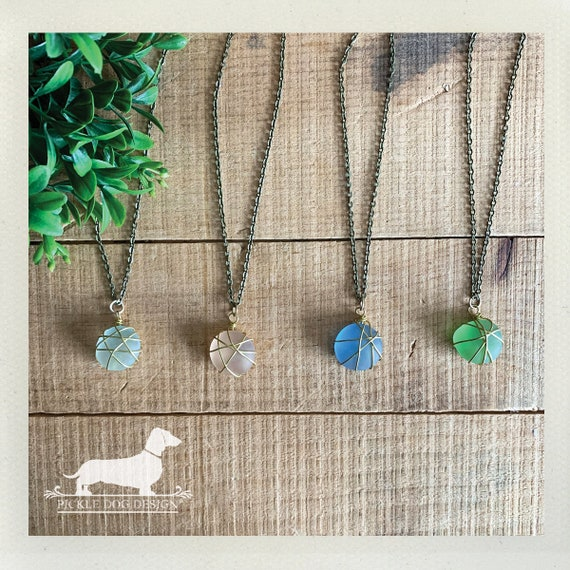 Sea Glass. Necklace