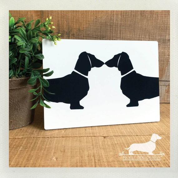 LAST CHANCE! Imperfect Doxie Love. Easel Back Plaque