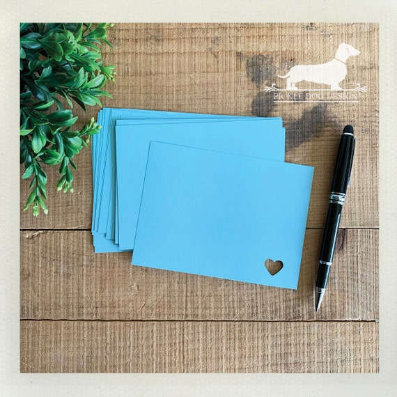 DOLLAR DEAL! Baby Blue. Flat Cards (Set of 25)