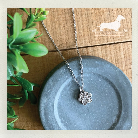Silver Paw. Necklace