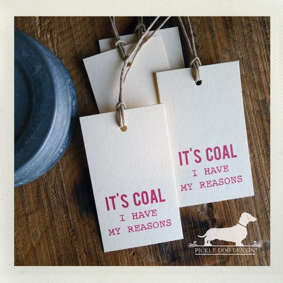 Coal. Gift Tags (Set of 20)