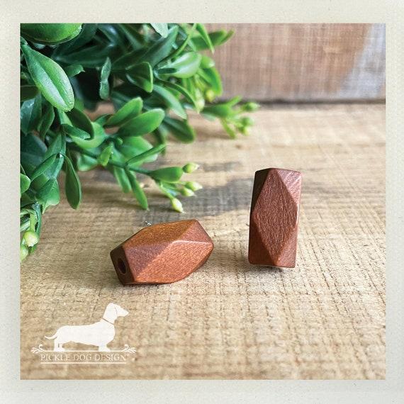 DOLLAR DEAL! Wood Bar. Post Earrings