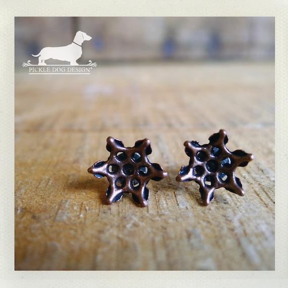 DOLLAR DEAL! Brown Flower. Post Earrings