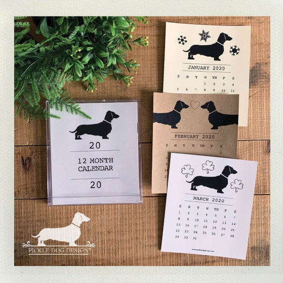 Doxie Love. 2020 Desktop Calendar