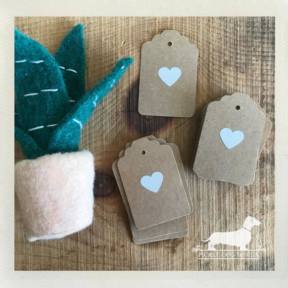 DOLLAR DEAL! Kraft Heart. Gift Tags