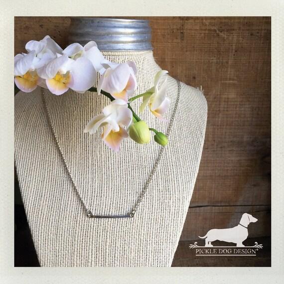 DOLLAR DEAL! Silver Bar. Necklace