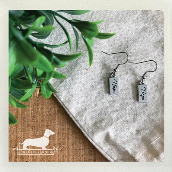 Hope. Dangle Earrings