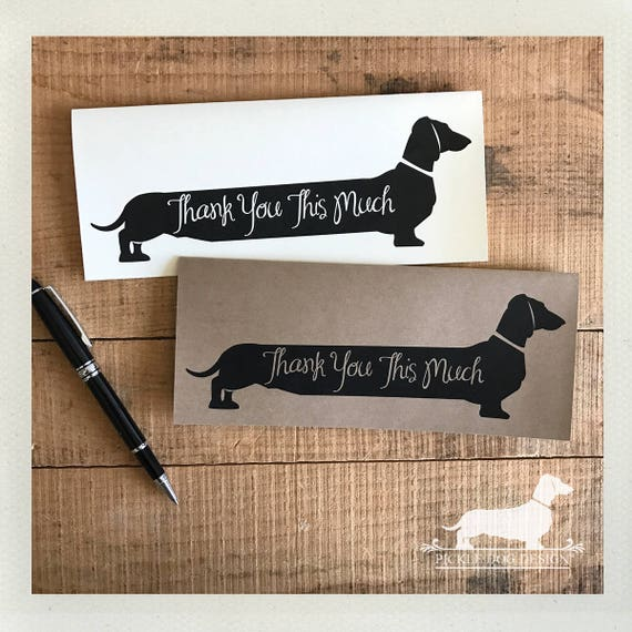 Long Doxie Thank You. Note Card