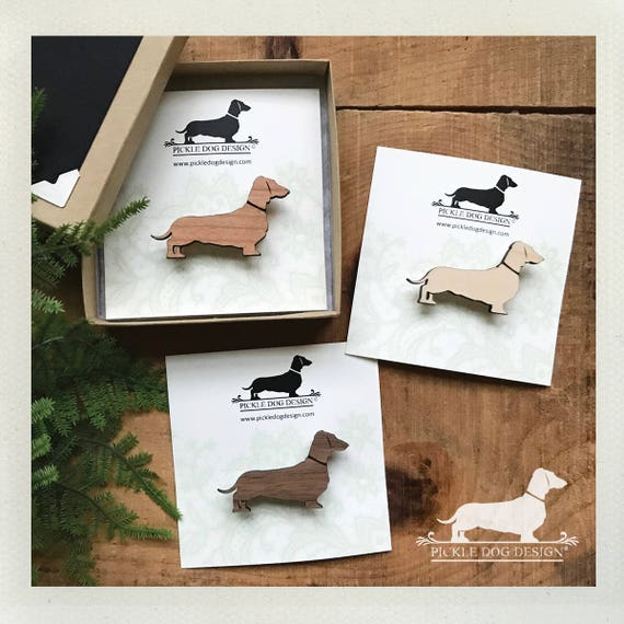 Doxie. Brooch