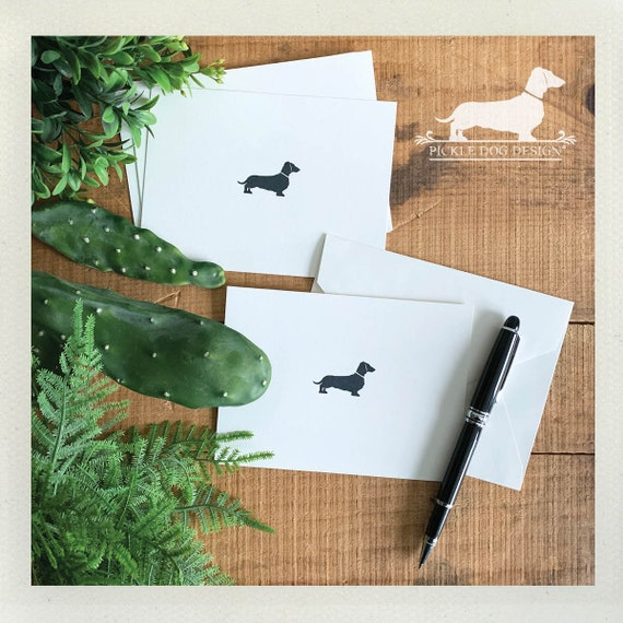 DOLLAR DEAL! Mini Doxie. Flat Cards (Set of 5)
