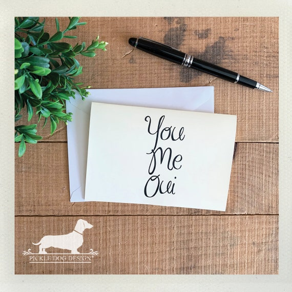 You Me Oui. Note Card