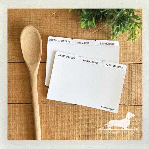 DOLLAR DEAL! 3x5 Recipe Divider Cards