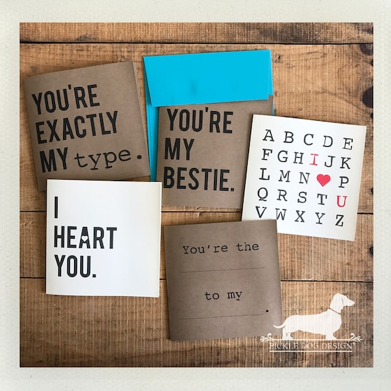 You're My Bestie. Note Cards (Set of 5)