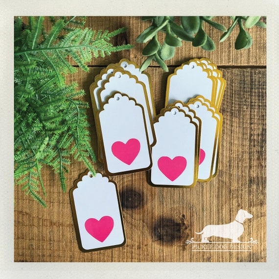 DOLLAR DEAL! Pink Heart. Gift Tags (Set of 10)