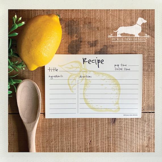 Lemon Zest. A Baker's Dozen (Qty 13) Set of Recipe Cards