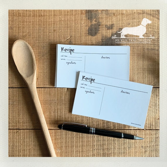DOLLAR DEAL! Abby Recipe Cards (Set of 13)