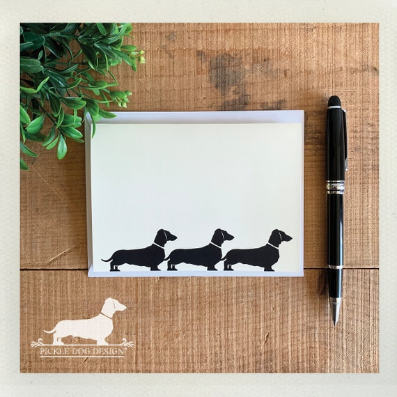 Doxie Train. Note Card