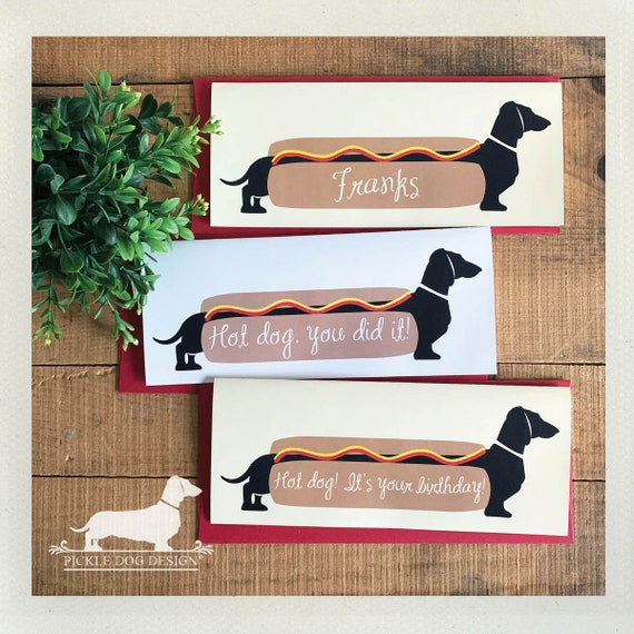 Hot Dog Doxie. Note Card