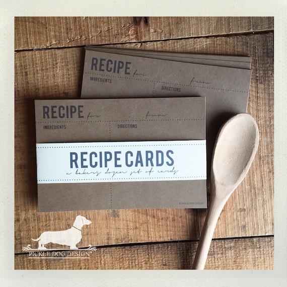 Classic Kraft. A Baker's Dozen (Qty 13) Set of Recipe Cards