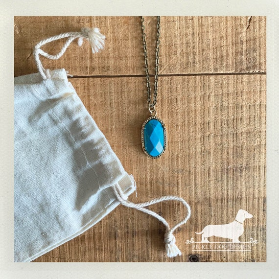 Turquoise Drop. Necklace