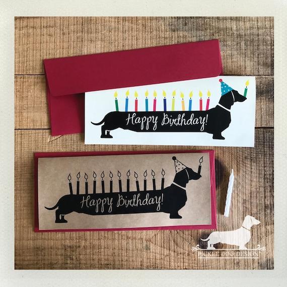 Happy Birthday Doxie. Note Card