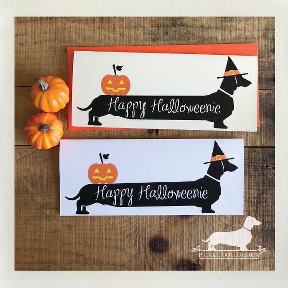 Happy Halloweenie Doxie. Note Card