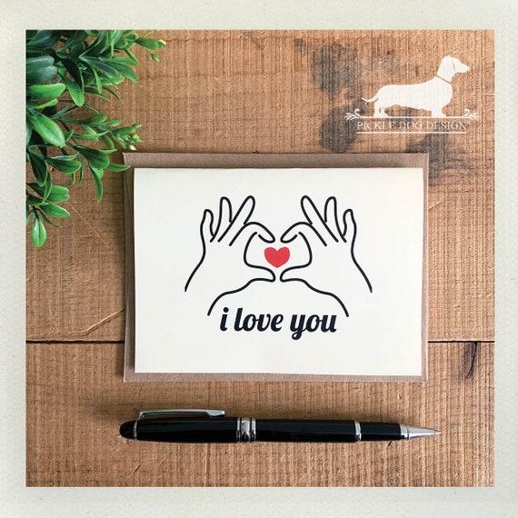 Heart Hands. Note Card