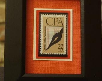 Certified Public Accountants - Vintage Framed Postage Stamp - No. 2361, Version 1