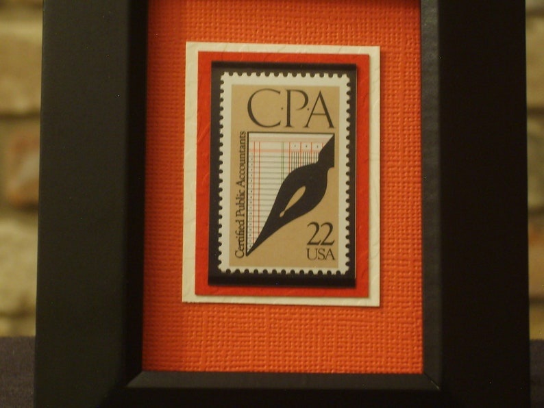 Certified Public Accountants Vintage Framed Postage Stamp