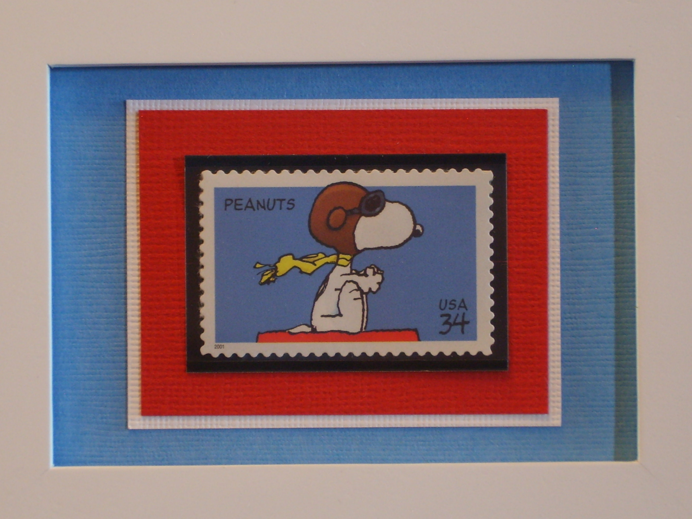Snoopy VS The Red Baron Framed Postage Stamp No 3507