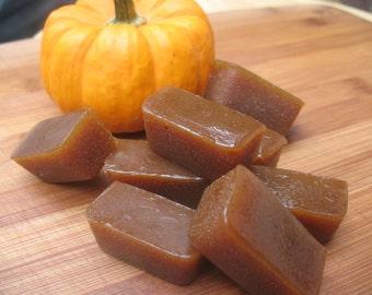 Vegan Organic Pumpkin Spice Caramels--LIMITED EDITION October only!