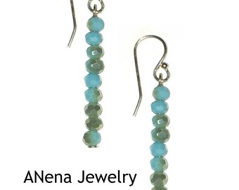 """Earrings : 925 Sterling Silver and crystal """" Pure Beauty"""""""