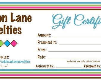 CUSTOM certificate, 3 x 7 certificate, 2 ply certificate, gift certificate, custom designed, promotion, professional, certificate, customize