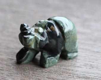 Kambaba Jasper Stone Bear Figurine F307