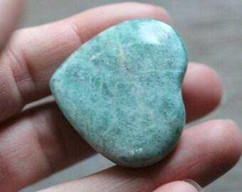 Amazonite Heart Shaped Stone #88458