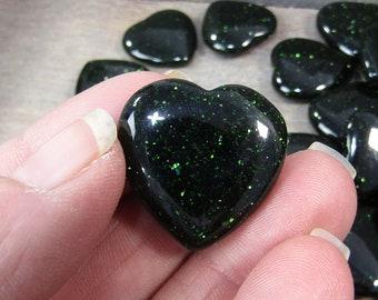 Green Goldstone Flat Heart K344