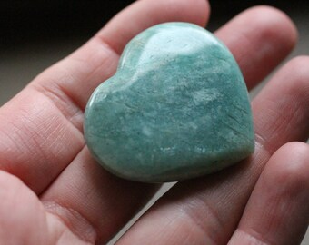 Amazonite Heart Shaped Stone #85609