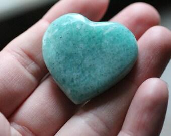 Amazonite Heart Shaped Stone #85653