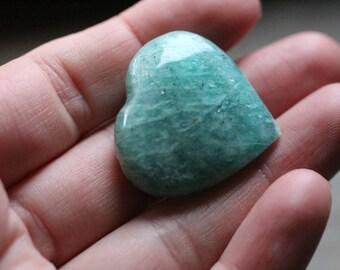 Amazonite Heart Shaped Stone #85674