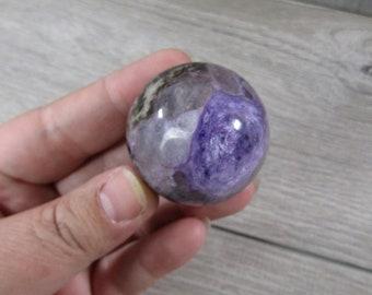 Charoite Sphere 3.1 oz 40 mm #8746 cc