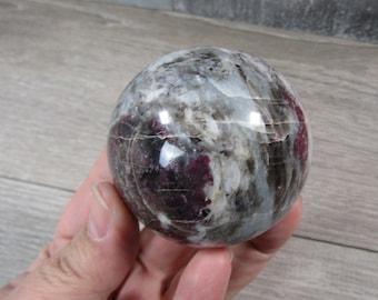 Pink Tourmaline in Quartz 10.5 oz 60 mm Sphere #8156 cc