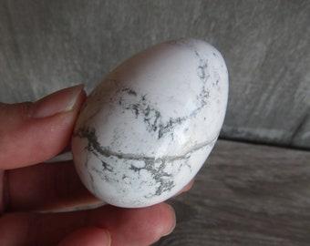 Howlite Stone Egg #2961 cc