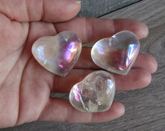 Angel Aura Quartz Medium Heart Stone K203