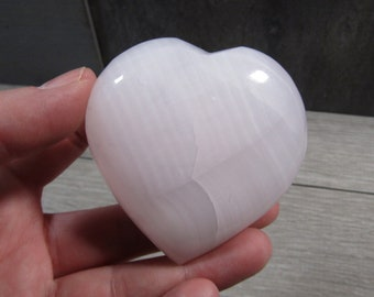 Pink Calcite Stone Heart 4.9 ounce #4678 cc