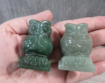 Aventurine 2 inch Owl Figurine Fig163
