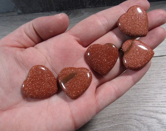 Goldstone Stone Flat Heart K305