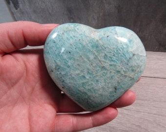 Amazonite Large Heart 7.0 ounces #4688 cc