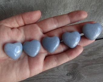 Angelite Stone Shaped Heart K82