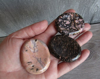 Rhodonite Worry Stone E21