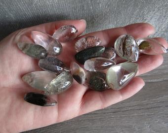 Chlorite Included Quartz Stone Drop Shape M55